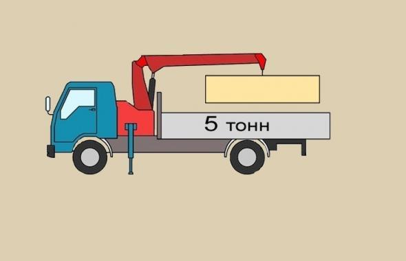 Кран-борт 5 тонн аренда